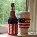 Free Crochet Patterns - Celebrate Coffee Sleeve & Bottle Cozy by A Crocheted Simplicity