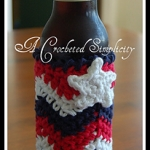 Free Crochet Pattern - Chasing Chevrons Bottle Cozy by A Crocheted Simplicity