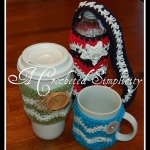 Free Crochet Patterns - Chasing Chevrons Coffee Sleeve, Coffee Cozy, Water Bottle Cozy by A Crocheted Simplicity