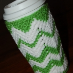 Free Crochet Pattern - Chasing Chevrons Venti Cozy by A Crocheted Simplicity