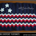 Free Crochet Pattern - Chasing Chevrons Placemat by A Crocheted Simplicity