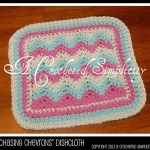 Free Crochet Pattern - Chasing Chevrons Dishcloth by A Crocheted Simplicity