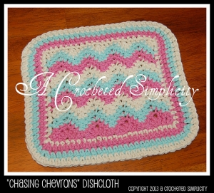 """Chasing Chevrons"" Dishcloth"