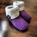 "Crochet Pattern - ""Knot Knit"" Slipper Boots by A Crocheted Simplicity"