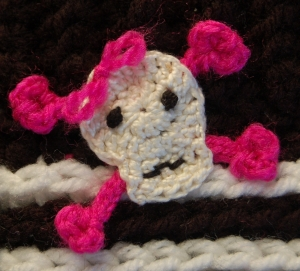 Funky Skull & Crossbones Applique