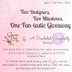 A Crocheted Simplicity & Sincerely Pam's One Fan-tastic Giveaway