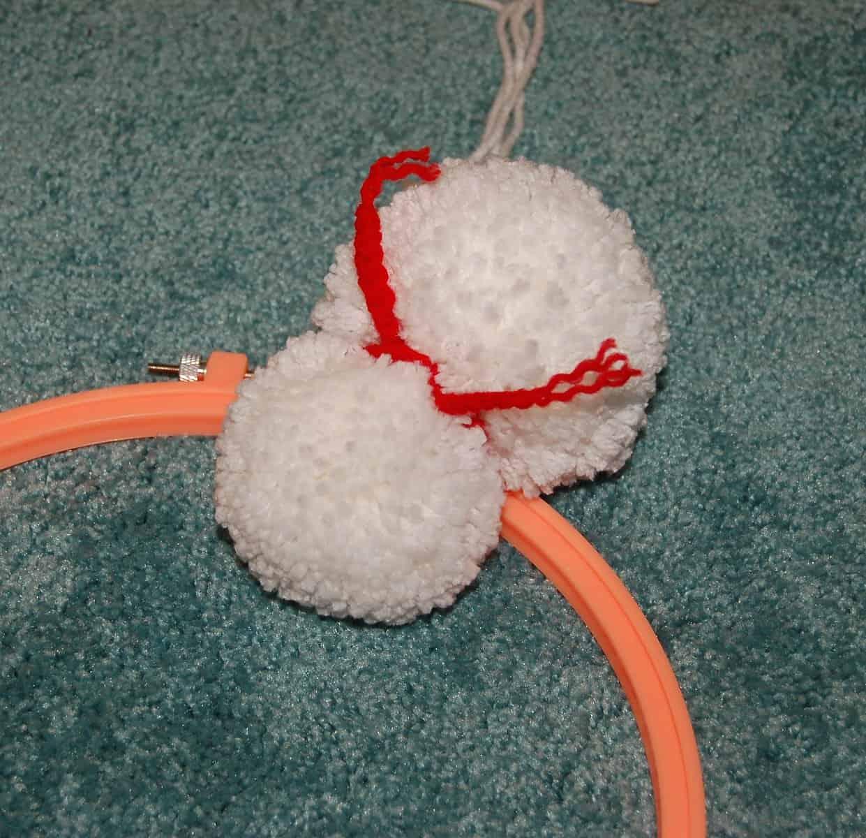 Snowman Pom Wreath Tutorial A Crocheted Simplicity