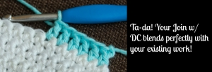 Joining New Yarn w/ a Double Crochet (dc)