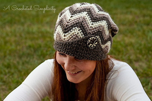 "Crochet Pattern: ""Chasing Chevrons"" Slouch by A Crocheted Simplicity"