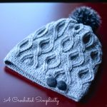 Crochet Pattern - Hourglass Cabled Beanie & Slouch by A Crocheted Simplicity