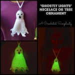 Free Crochet Pattern - Ghostly Lights Necklace by A Crocheted Simplicity