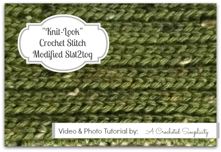 Crochet Stitch Photo Video Tutorial Modified Slst2tog A