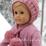 Free Crochet Pattern - Winter Poms Doll Hat by A Crocheted Simplicity