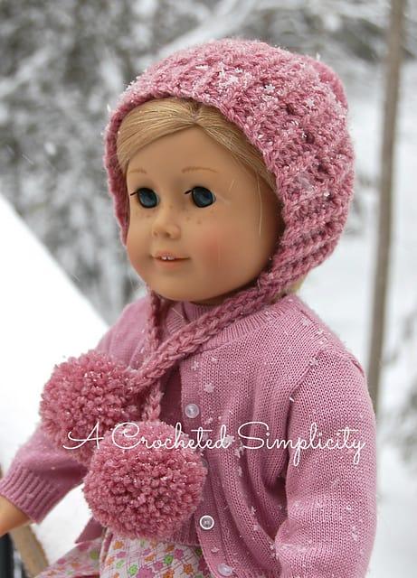 "Free Crochet Pattern | ""Winter Poms"" 18"" Doll Hat - A ... - photo #8"