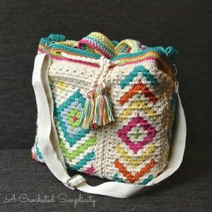 """Boho Chic"" Mosaic Tote Bag"