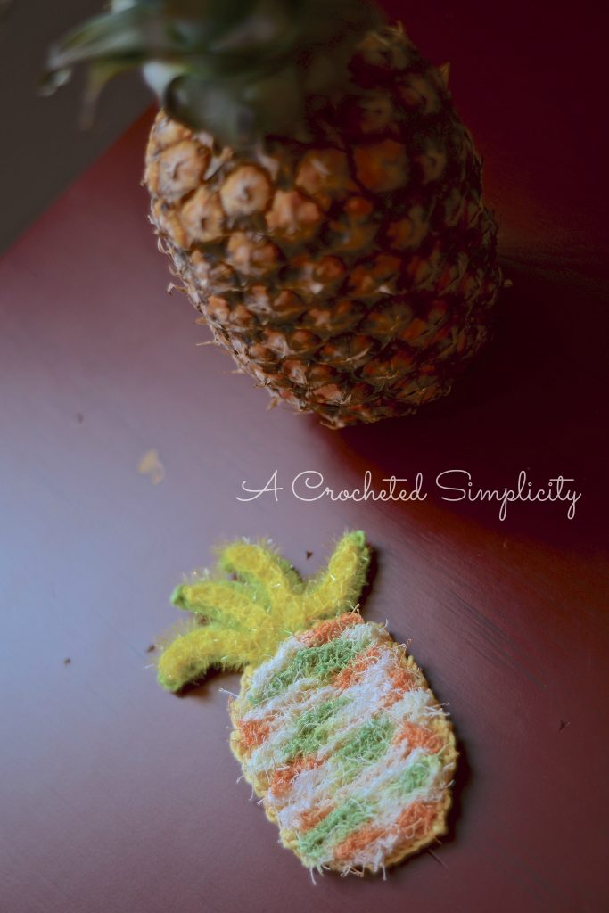 Free Crochet Pattern from A Crocheted Simplicity Double-Sided Pineapple Dish Scrubby