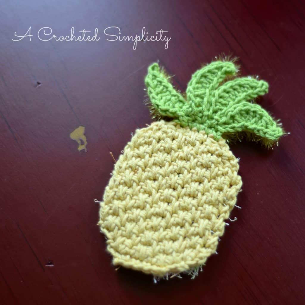 Free Crochet Pattern Double Sided Pineapple Dishfacebody Scrubby