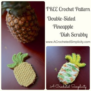 Free Crochet Pattern | Double-Sided Pineapple Dish/Face/Body Scrubby
