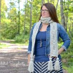 """Twisting Trellis"" Cabled Scarf Crochet Pattern by A Crocheted Simplicity"