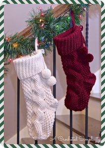 2016 Cabled Christmas Stocking Crochet-A-Long