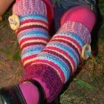 Crochet Pattern - Candy Stripe Legwarmers by A Crocheted Simplicity