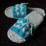 "Crochet Pattern - ""Chasing Chevrons"" Slides / Slippers by A Crocheted Simplicity"