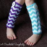 "Crochet Pattern - ""Chasing Chevrons"" Legwarmers by A Crocheted Simplicity"