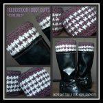Crochet Pattern - Houndstooth Boot Cuffs by A Crocheted Simplicity