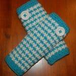 Crochet Pattern - Girls' Houndstooth Legwarmers by A Crocheted Simplicity