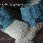 "Crochet Pattern - ""Kickin' Cables"" Slipper Boots by A Crocheted Simplicity"