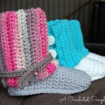 Crochet Pattern - Kids' Slouchy Slipper Boots by A Crocheted Simplicity