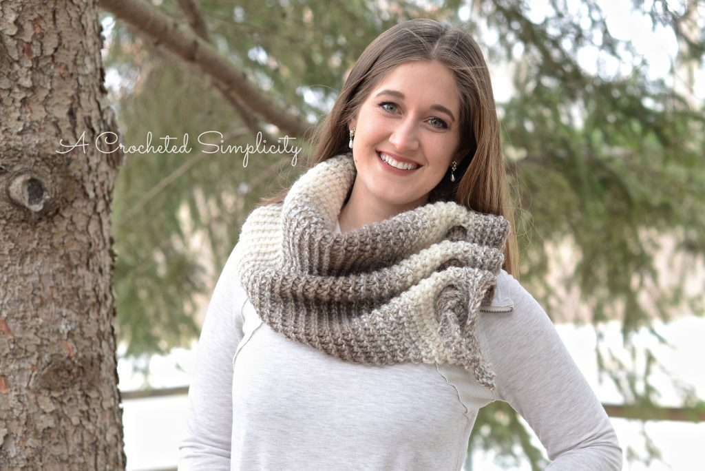 Free Crochet Pattern - Aveline Reversible Crochet Scarf by A Crocheted Simplicity