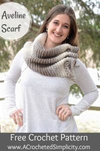 Free Crochet Pattern - Aveline Reversible Scarf by A Crocheted Simplicity