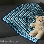 Free Crochet Pattern & Video Tutorial - Get in Line, Granny! Afghan by A Crocheted Simplicity
