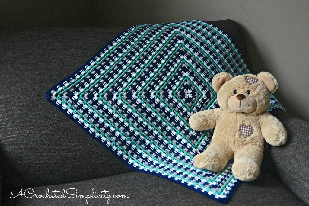 New Free Crochet Pattern & Video Tutorial - Get in Line, Granny Afghan by A Crocheted Simplicity