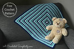 Free Crochet Pattern – Get in Line Granny Afghan (video tutorial included)