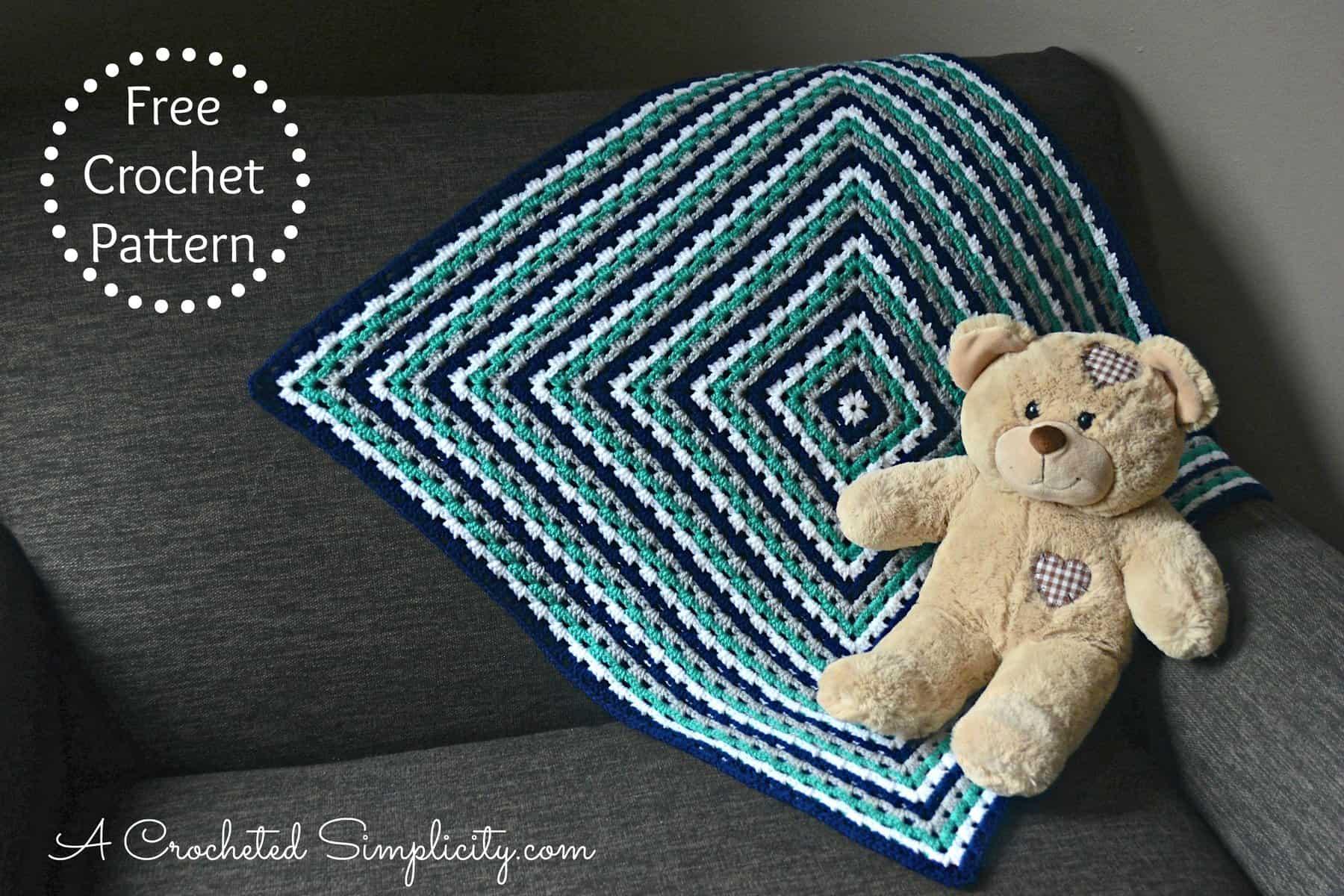 Free Crochet Pattern Get In Line Granny Afghan Video Tutorial