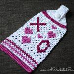 Free Crochet Pattern - Hugs & Kisses Towel by A Crocheted Simplicity