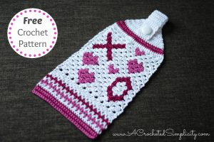 Free Crochet Pattern – Hugs & Kisses Crochet Towel
