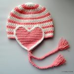 Free Pattern: Crochet Valentine Heart Earflap Hat by Classy Crochet