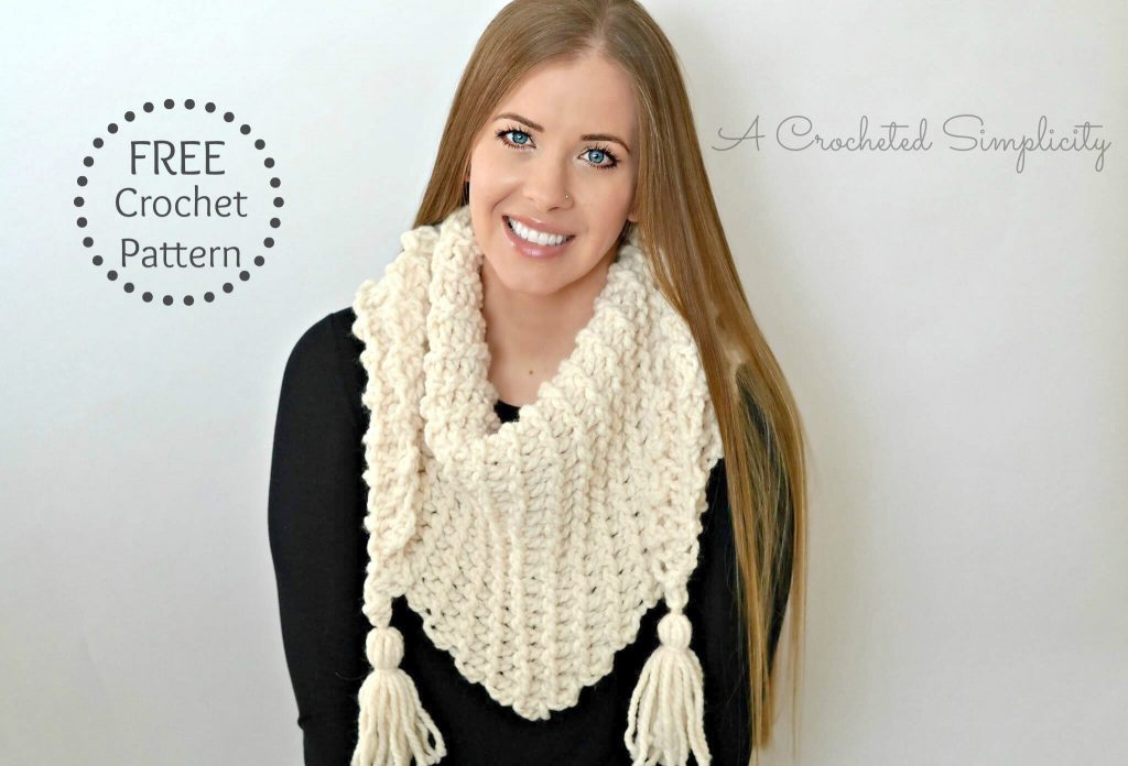 Free Crochet Pattern - Abella Triangular Scarf by A Crocheted Simplicity