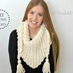 Free Crochet Pattern – Abella Triangular Scarf
