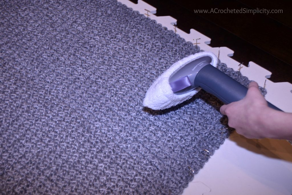 How To Block Acrylic Yarn Wet Spray Steam Blocking A