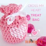 Free Crochet Pattern Cross-My-Heart-Treat-Bag by Moggly