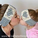 Free Crochet Pattern - Granny Heart Headwarmer by A Crocheted Simplicity