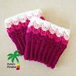 Free Crochet Pattern Sweetheart-Boot-Cuffs by Pattern Paradise