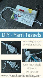 Learn how to make yarn tassels with this simple tutorial! #yarntassels #DIYyarntassels #handmade #yarn #crochet #crochettutorial #yarntutorial #freetutorial