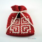 Free Crochet Pattern Valentine Goody Bag - by B.hooked