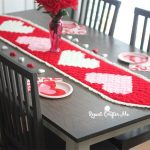 Free Crochet Pattern C2C-Valentine's-Heart-Table-Runner by Repeat Crafter Me