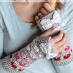 Free Crochet Pattern Puppy love armwarmers